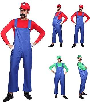 Anladia Disfraz de Mario Bros para Adulto Hombre Cosplay Dress ...