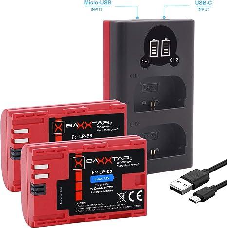 Baxxtar Pro (2X) Batería de Repuesto para Canon LP-E6: Amazon.es: Electrónica
