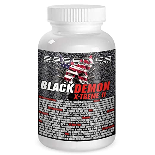 BBGenics, BlackDemon X-Treme II, T-Booster, maca de calidad, arginina, Tribulus, zinc, hierro, cromo, vitamina B2, B6, C, 60 cápsulas: Amazon.es: Salud y ...