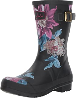 Womens Molly Welly Ankle Boots, French Marine Beau Bloom Joules