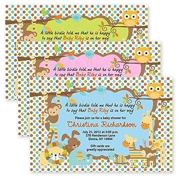 Amazon jungle safari monkey baby shower invitations monkey jungle safari monkey baby shower invitations monkey invitation filmwisefo
