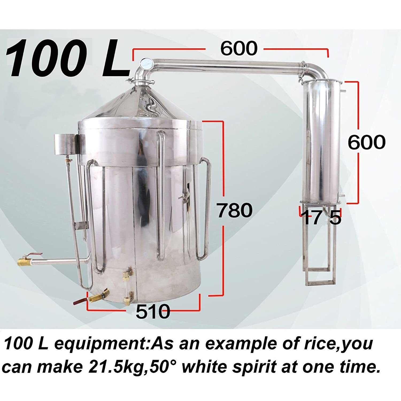 Amazon.com: 60L-100L Litres New Stainless Household Moonshine Still ...