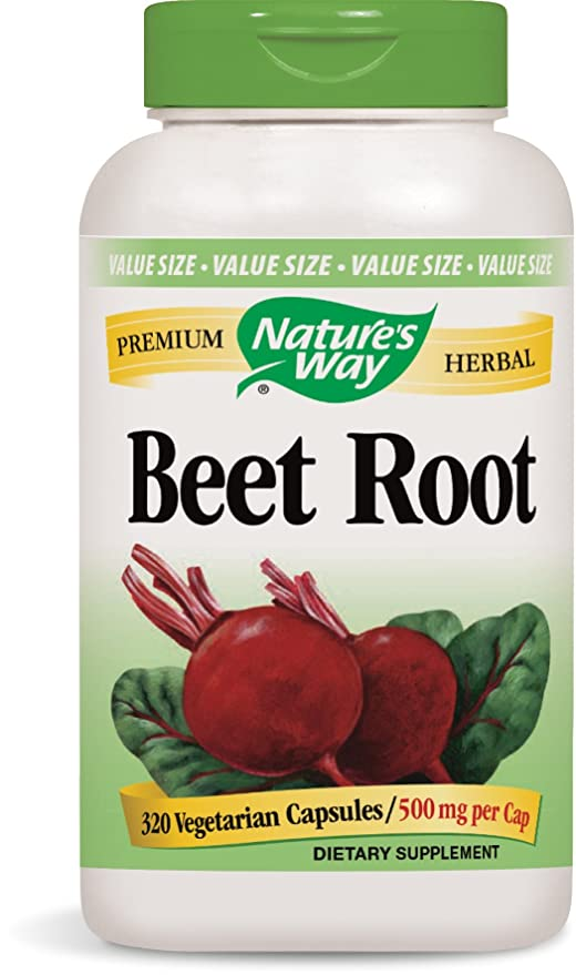 Natures Way - Magnesio de la raíz 500 de la remolocha. - 320 cápsulas vegetarianas