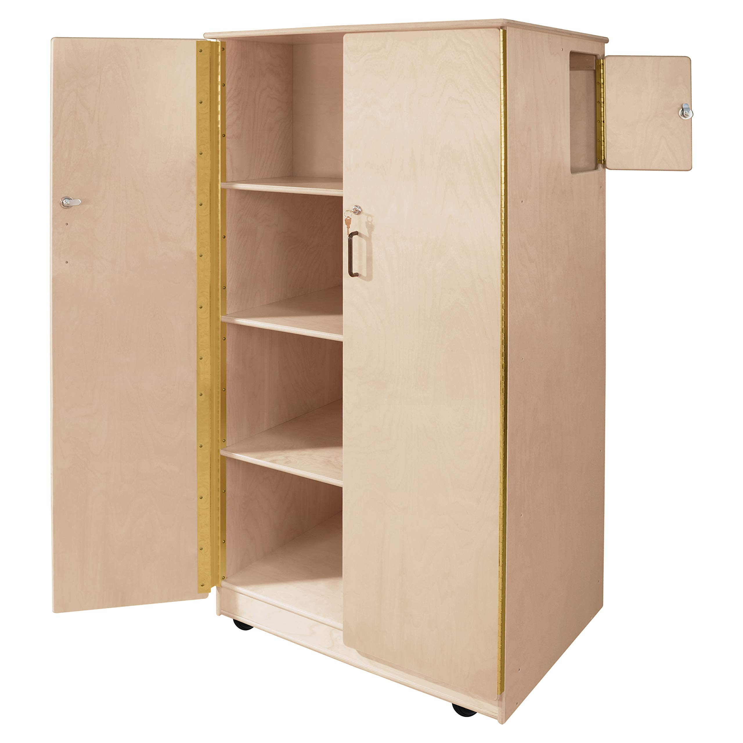 Wood Designs Mobile Teacher's Lock-It-Up Cabinet by Wood Designs