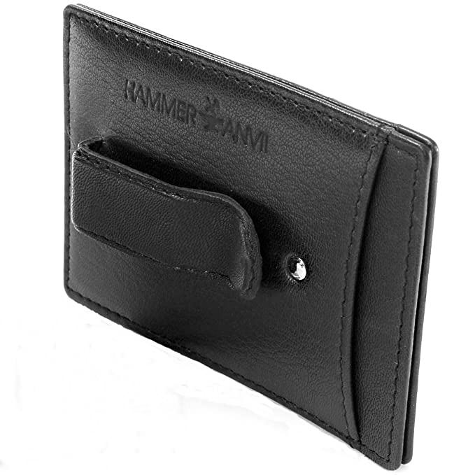 Amazon.com: Hammer Anvil RFID - Monedero de piel con clip ...