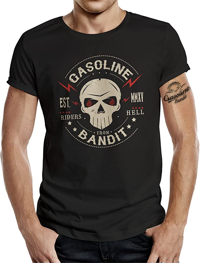GASOLINE BANDIT - Camiseta - Manga Corta - para hombre Negro XXXXL: Amazon.es: Ropa y accesorios