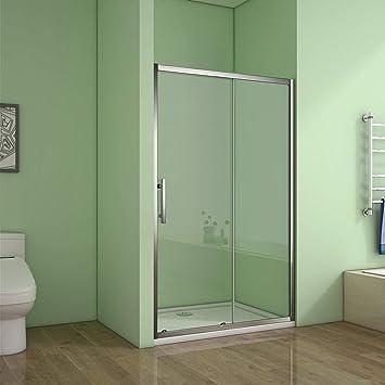 Aica Bathrooms 1200SR Deslizante de 1200 mm para Cuarto de baño Moderno de 6 mm de Cristal de Ducha de la Puerta del cubículo, Aleación de Aluminio, Cromado, 1200x1850mm: Amazon.es: Juguetes y