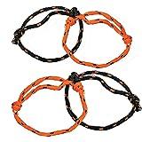Fun Express Halloween Orange and Black Nylon Friendship Rope Bracelets - 72 pieces