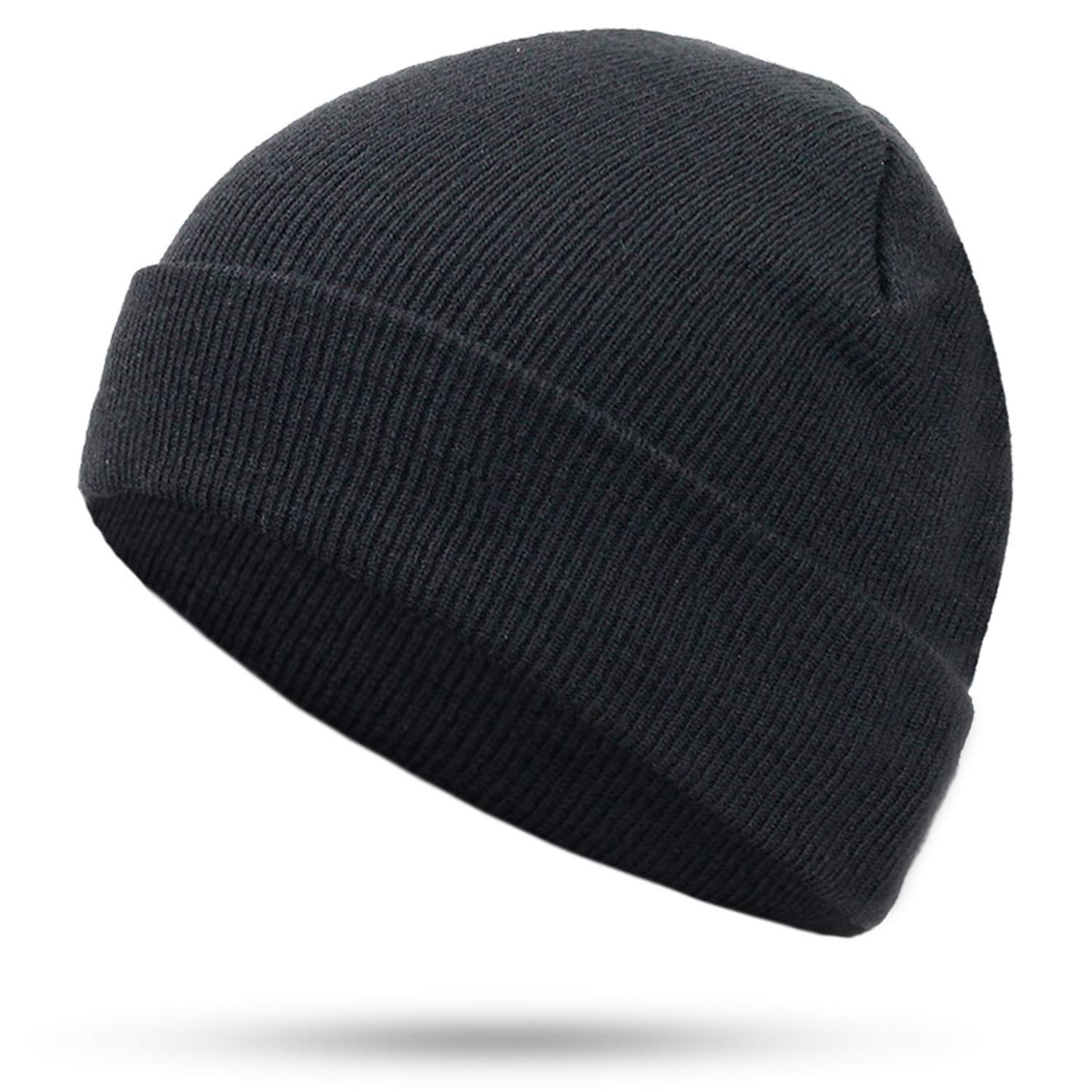 cea2d1eb84ee9 Amazon.com: LONIY 2018 Solid Color Knit Beanies Hat Winter Hats Warm ...