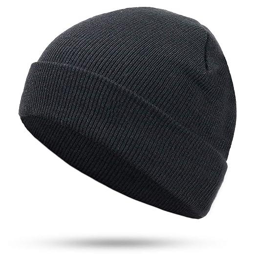 25f2c714bc1 cbgxvd Solid Color Knit Beanies Hat Winter Hats Warm Man Woman Multiple  Colour Ski Soft Cap