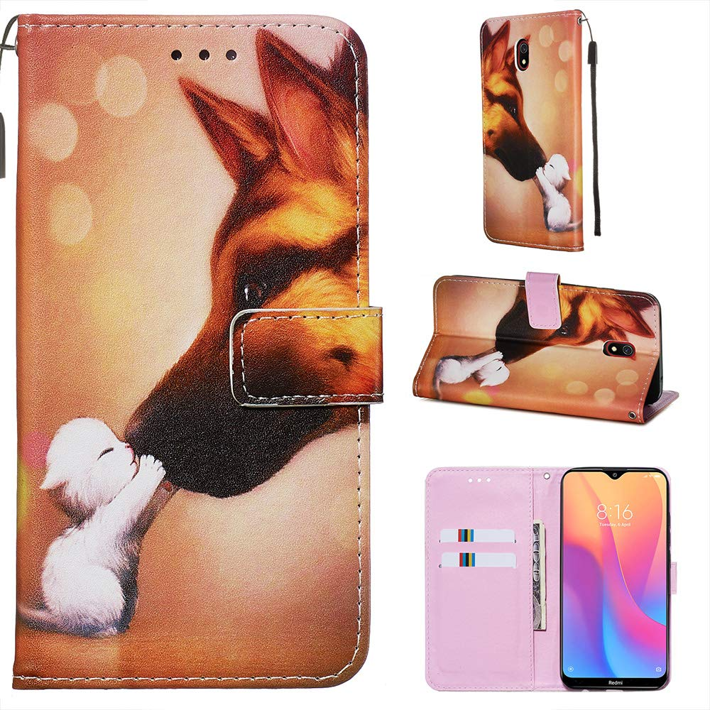 Miagon for Xiaomi Redmi Note 8 Wallet Case,PU Leather Folio Flip Cover with Stand Card Slots Magnetic Closure,Tower Butterfly