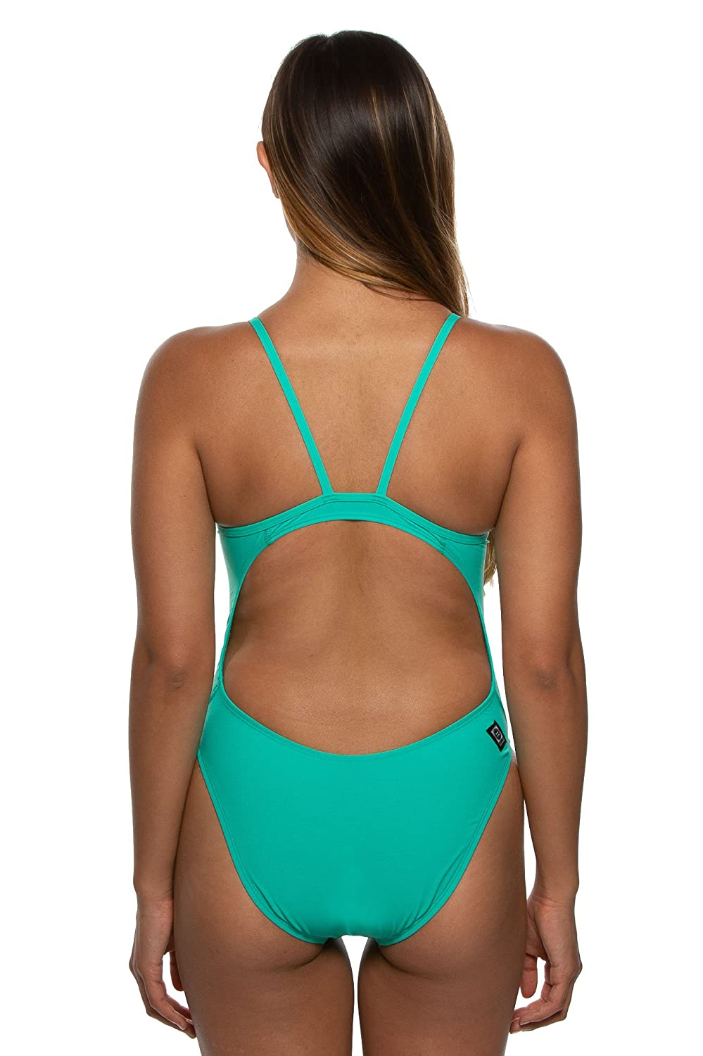 a8807c7f0eab4 JOLYN Womens Fixed-Back Chevy One-Piece Swimsuit Seafoam 810016303725  Sports & Outdoors Sports & Outdoor Clothing