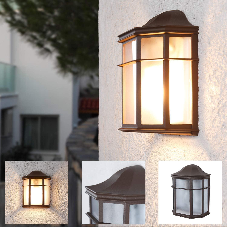 2x Außen Leuchten rustikal Terrasse Wand Laternen Landhaus Stil Lampen Kupfer