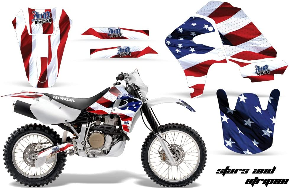 AMR Racing MX Dirt Bike Graphics kit Sticker Decal Compatible with Honda XR650R 2000-2010 Stars and Stripes