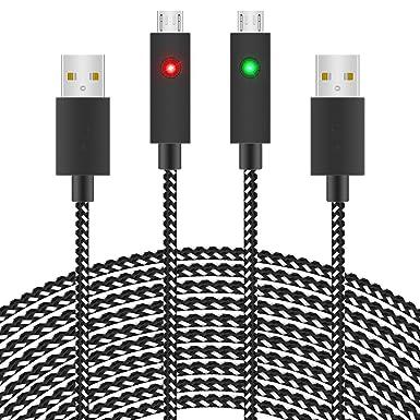 Amazon.com: Cable de carga para mando de Xbox/PS4, 2 ...