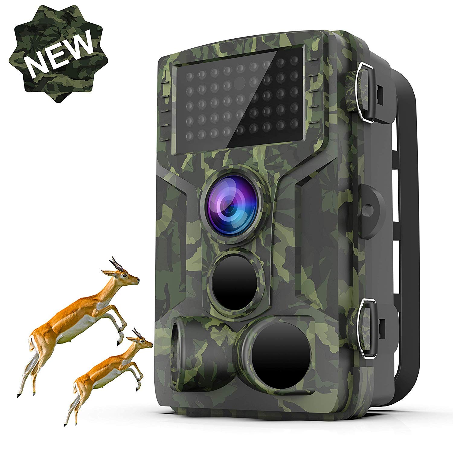 STARLIKE Trail Camera 1080P Waterproof Hunting Scouting Cam for Wildlife Monitoring with Motion Activated Night Vision up to 65ft/20m, 120°Detect Range, 36pcs 940 Infared LEDs, 0.3s Trigger Speed by STARLIKE