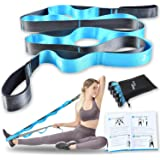 Relax Tony Stretching Strap with Loops for Yoga, Physical Therapy & Flexibility Exercises | Non-Elastic 12 Loops Stretch…