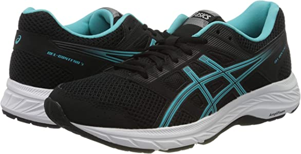 Asics Gel-Contend 5, Zapatillas de Running para Mujer, Negro (Black 1012A234-003), 36 EU: Amazon.es: Zapatos y complementos