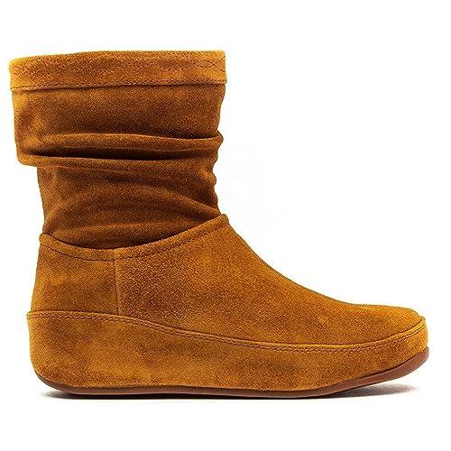 Fitflop Crush Suede Zip, Botas para Mujer, Color Marrón, Talla 35.5: Amazon.es: Zapatos y complementos