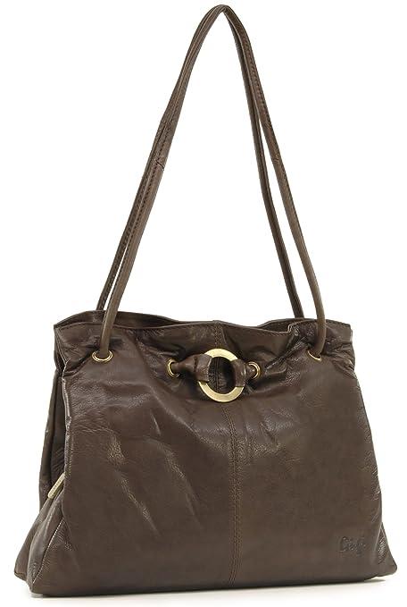e7a79ea6c158 Gigi - Women s Leather Shoulder Bag - OTHELLO 4323 - Dark Brown   Amazon.co.uk  Luggage