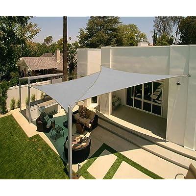 Artpuch 12' x 12' x 12' Triangle Sun Shade Sails UV Block for Shelter Canopy Patio Garden Outdoor Facility (2 Pack) (2Pcs 12'x12'x12', Grey2) : Garden & Outdoor