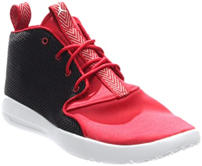 newest 8304b 25255 JORDAN KIDS JORDAN ECLIPSE CHUKKA BP BLACK WHITE GYM RED WHITE SIZE 2