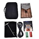 Kalimba Daumenklavier, Beatie 17 Schlüssel mit 1x Tasche,1x lang 3m Audio Kabel,1xStimmhammer;1xEnglisch Song Book und 2 x Aufkleber