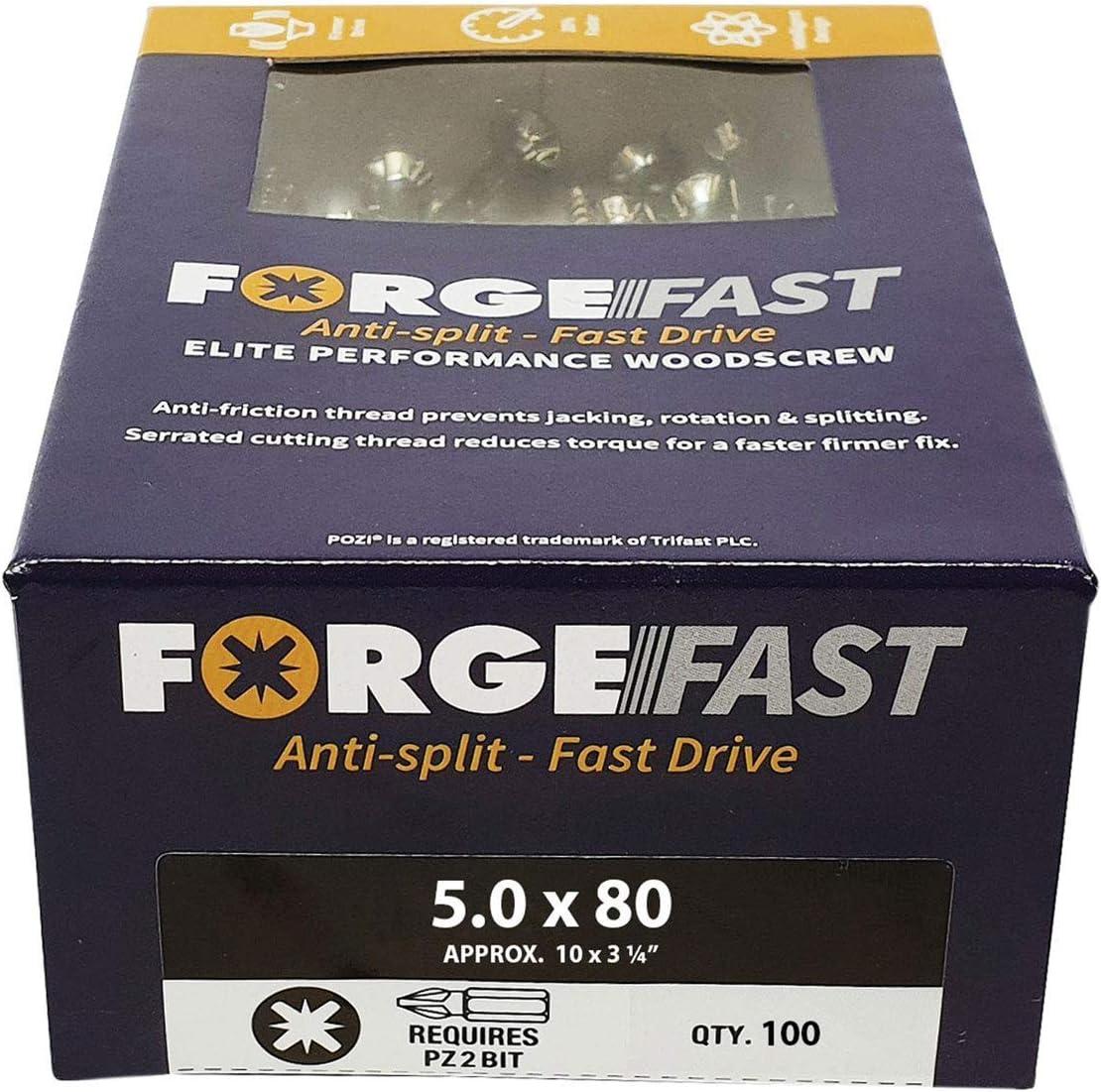 /Argent FORFFP580Y argent Forgefix Forffp1000y Forgefast Pozi Compatible Elite Performance Vis /à bois Organiseur/