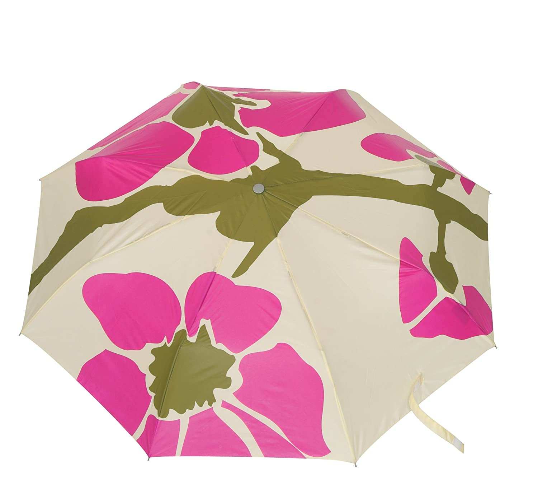 Paraguas Compacto con Funda de Nailon Color Rosa con dise/ño de Flores 23 x 90 cm Young Generation YT 251038 FL-PI Tube