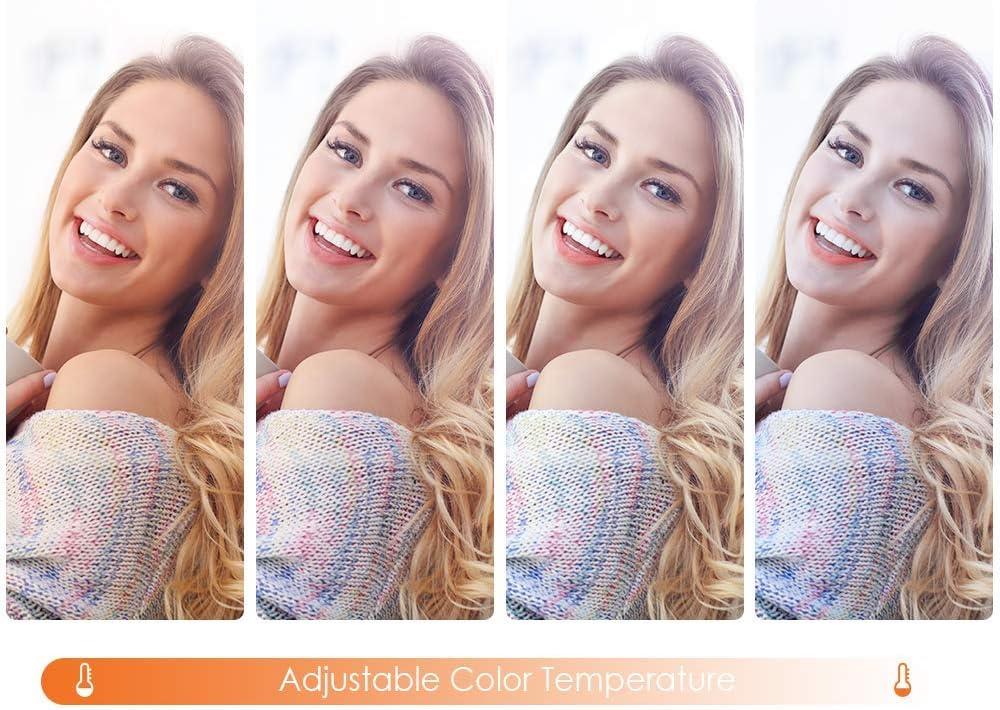 Support de 3 T/él/éphone pour Youtube Vid/éo TikTok Maquillage Microphone K/&F Concept Selfie Ring Light LED 11 Lumi/ère Anneauavec Petit Tr/épied