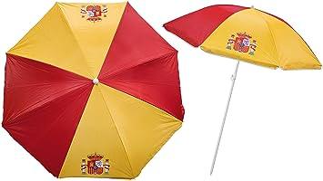 Lote DE 4 SOMBRILLA ESPAÑA Proteccion UV ESPAÑA- Grade de 155cm - SOMBRILLA Playa Bandera DE ESPAÑA con Bolsa y Acabado: Amazon.es: Equipaje