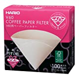 Hario VCF-02-100MK 1-Piece Box of Paper Filter for 02 Dripper Misarashi
