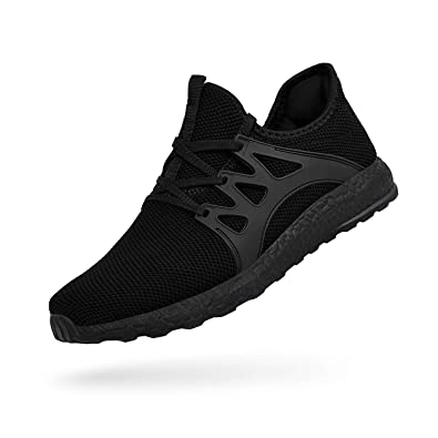 size 40 b0b02 e1dba Troadlop Men s Athletic Running Shoes Ultra Lightweight Breathable Slip On  Work Sneakers Black Size 10.5 US