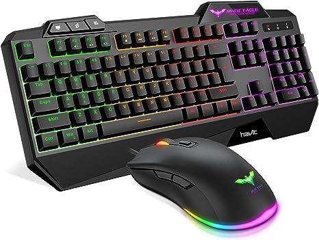 havit Teclado Gaming Español Teclado y Ratón con Rainbow ...