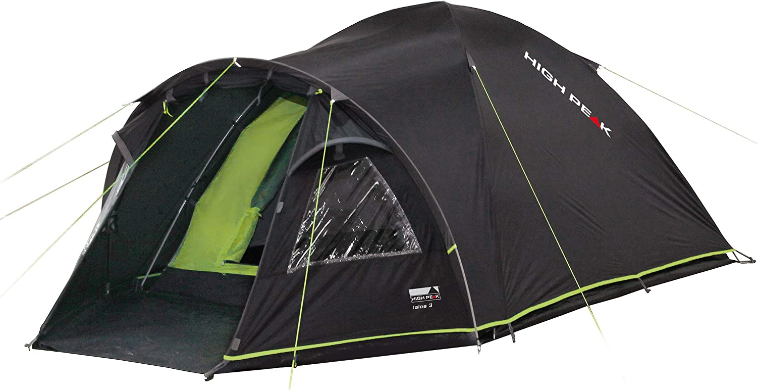 High Peak Unisex's Talos 4 Tents, Darkgrey/Green, One Size