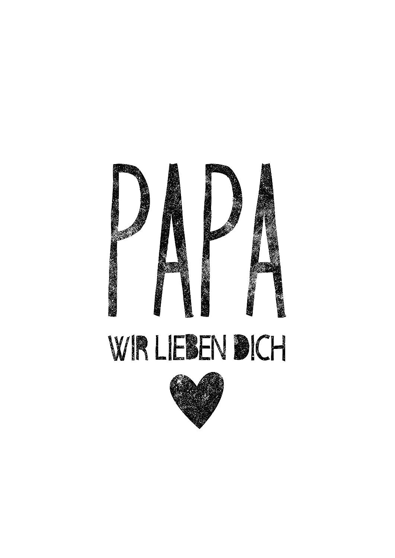 Poster Geschenk Fur Papa Papa Wir Lieben Dich Perfekt Zum