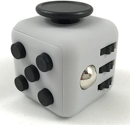 VAPIAO Anti Stress W/ürfel mit 12 Seiten und Funktionen gegen Stress in Wei/ß wie Fidget Cube