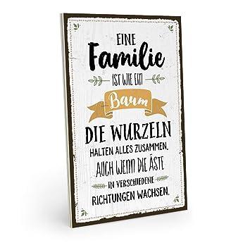 ARTFAVES Holzschild mit Spruch - EINE Familie IST WIE EIN ...