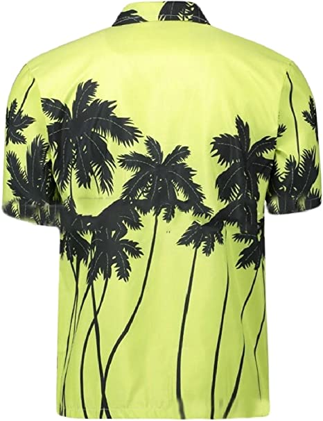 GenericMen Hawaiian Shirt Short Sleeve Button Down Shirt Beachwear