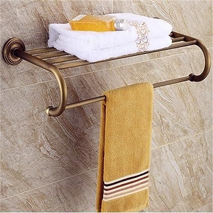 Latón Antiguo el baño de Flores envasadas Retro Europeo Accesorios para Rack de Toallas de baño