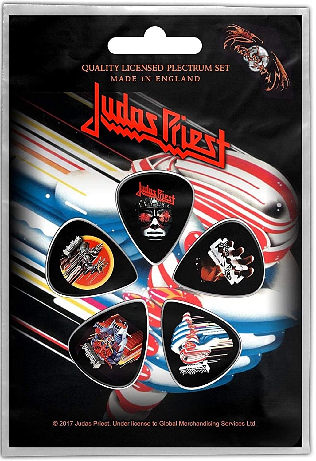 Judas Priest Plectrum Pack Guitar Pick X 5 Band Logo British Steel Official