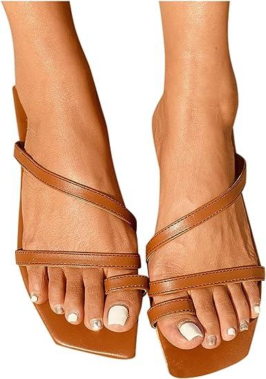 Zapatos Planos De Mujer Sandalias De Mujer Con Clip Del Dedo Del Pie Flip Flops Zapatos De Plataforma Pisos Inferiores Resbalón En Cuñas Clothing