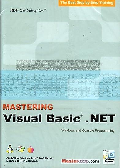 Amazon com: BDG PUBLISHING Mastering Visual Basic  NET