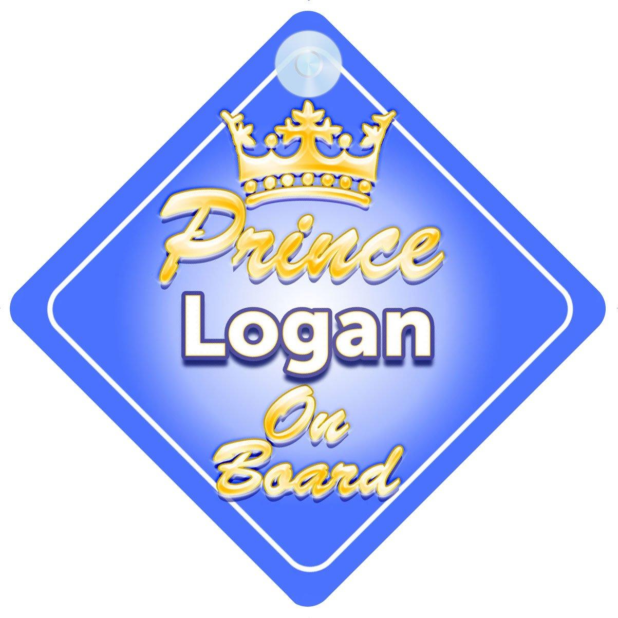 Crown Prince Logan on Board Personnalis/é pour b/éb/é//enfant gar/çons voiture Panneau