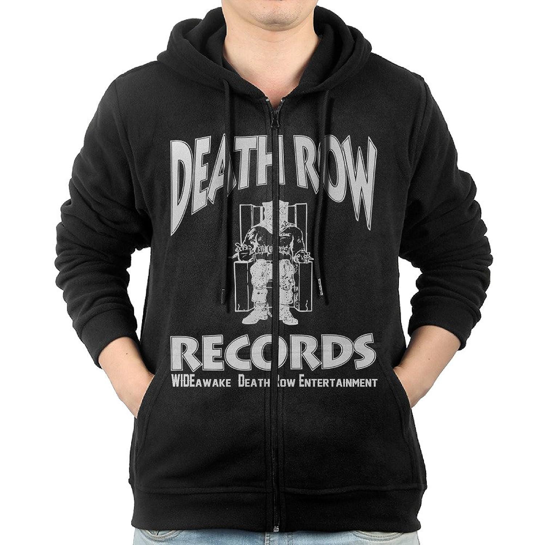 Men Death Row Records Logo Notorious Biggie Killer Fleece Hoodie Black cheap