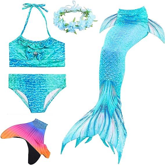 Amazon.com: Diadema de cola de sirena para natación para ...