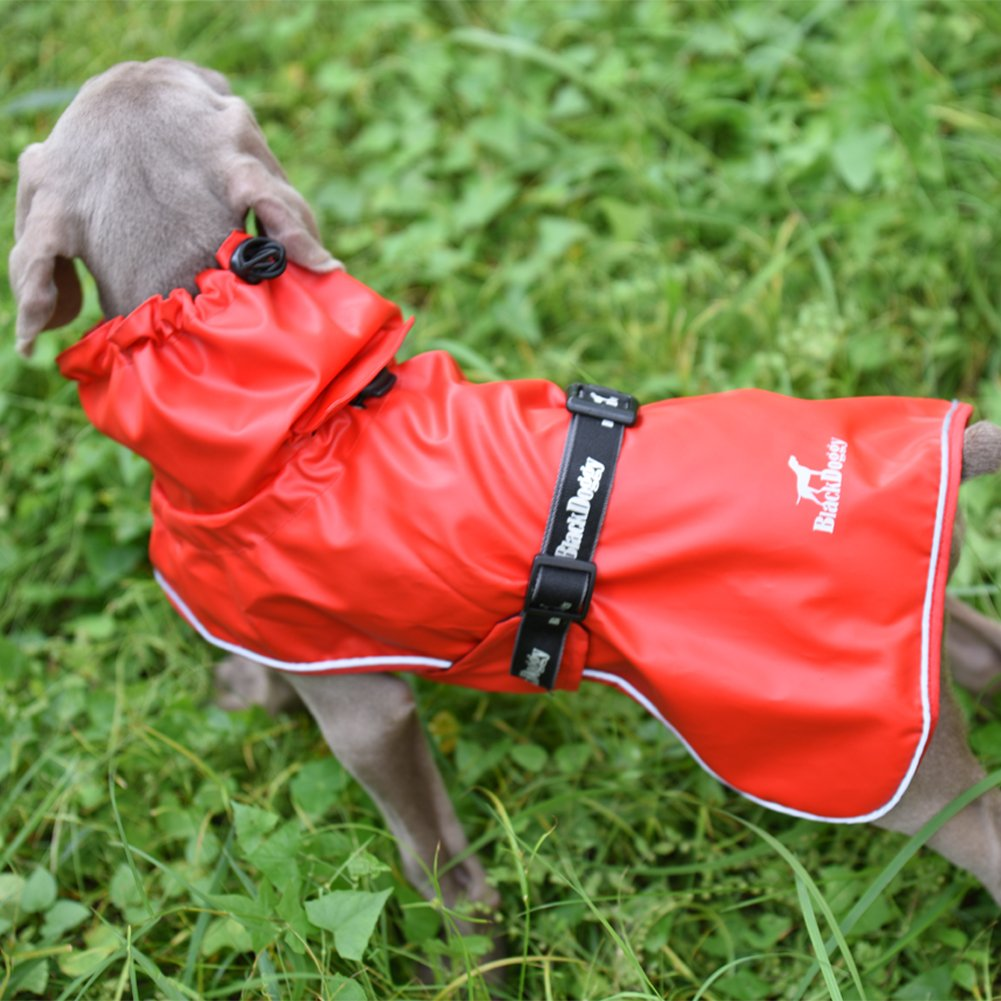 Red M Red M Fosinz Dog Jacket Outdoor Waterproof Windproof Dog Coat with Reflective Stripe Windproof Rain Pants Ski Clothing Sport Vest Dog Clothes Keep Warm (M (Neck 19.7 ,Girth 19.7 -25.6 ,Length 14.2 ))