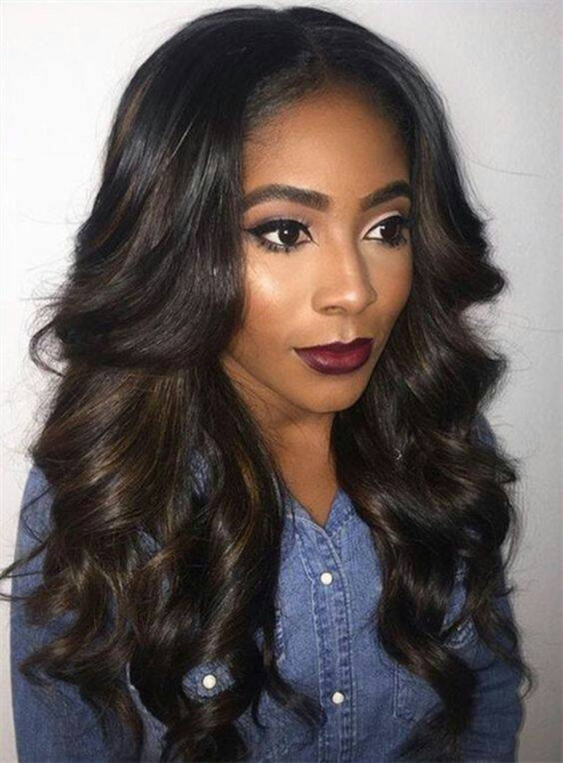 Human Hair Lace Front Wigs Unprocessed Virgin Brazilian Body Wave Hair Wigs 130% Denisity For Black Women 14''-26'' In Stock Natural Color(18'')