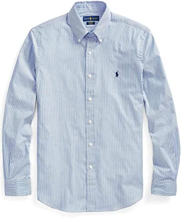 Ralph Lauren Luxury Fashion Hombre 710705269003 Azul Claro Camisa | Temporada Permanente: Amazon.es: Ropa y accesorios