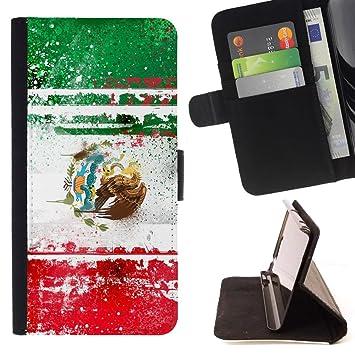 Graphic4You México bandera mexicana Cuero Carcasa Funda ...